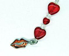 Love and Kisses Vapor Charm  E Cigarette Charm  by FlutterbyCharms