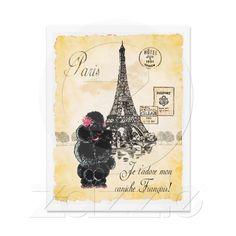 Poodle in Paris...too cute!