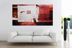 """Oil Painting """"Red Magnet"""""""