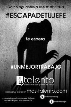 """Pieza """"nosferatu"""" de campaña de atracción de talento humano #escapadetujefe"""