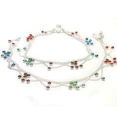 Ankle bracelets chains pair