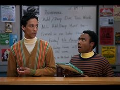 "Troy and Abed as Bert and Ernie. ""It's okay... let's have cookies!"""