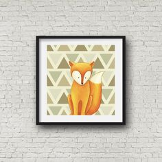 woodland animal wall print set of 3 prints foxbear by RapposWorld