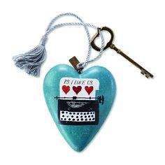 Demdaco 1003480009 I Love Us Art Heart Sculpture * For more information, visit now : Home Decor Sculptures