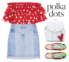 """""""POLKA CRAZY"""" by kawrose02 ❤ liked on Polyvore featuring Caroline Constas, AG Adriano Goldschmied and Gucci"""