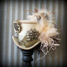 Steampunk Pirate Ship Mini Top Hat Alice in by ChikiBird on Etsy