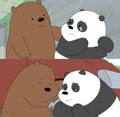 So sad & cute ❤ We Bare Bears Wallpapers, Panda Wallpapers, Cute Cartoon Wallpapers, Wallpaper Wallpapers, Bear Wallpaper, Wallpaper Iphone Cute, Disney Wallpaper, 3 Bears, Cute Bears