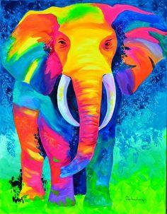 Colorido elefante