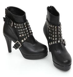 REDOPIN  Metal Studded Ankle Boots
