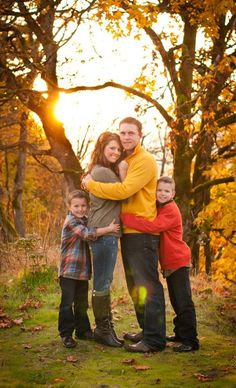 Fall Family Photo by RobinWood Photography
