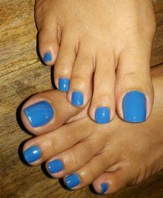 Foot Feet Sexy Feet Beautiful Feet Blue Foot Nice Toes, Pretty Toes, Pretty Nails, Nice Nails, Blue Pedicure, Acrylic Toe Nails, Long Toenails, Cute Toe Nails, Foot Photo