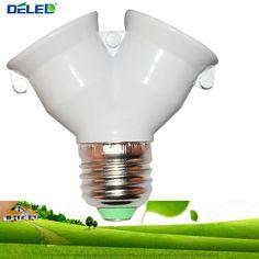 Lamp Holder Converter Socket Conversion with Fireproof Material E27 to 2 E27 Bulb Base type 2E27 Y Shape Splitter Adapter 1Pcs #Affiliate