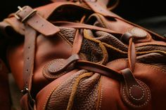 large leather backpack on Behance