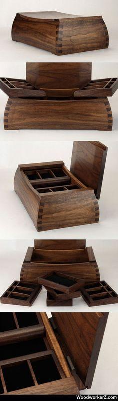Handmade Black Walnut Urn