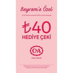 10 -16 Temmuz arasında 100TL ve üzeri alışverişe 40 TL hediye çeki #MarmaraPark C&A'da!
