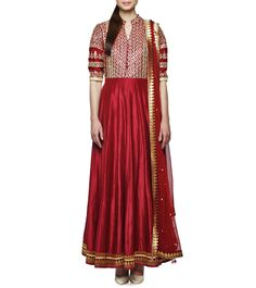 Ruby Embroidered Chanderi Silk Suit