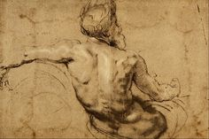 Study of a River God - Sir Peter Paul Rubens - Peter Paul Rubens/Studies - Wikimedia Commons Peter Paul Rubens, Life Drawing, Drawing Sketches, Art Drawings, Figure Drawings, Drawing Hands, Realistic Drawings, Drawing Poses, Sketch Art
