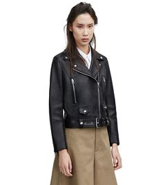 Acne Studios Mock Black Leather Jacket ($1600)