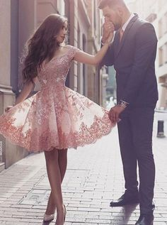short homecoming dresses,lace homecoming dresses,pink homecoming dresses,short prom dresses,217 homecoming dresses @simpledress2480