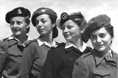 Women officers of the Israel Defence Forces in 1949.