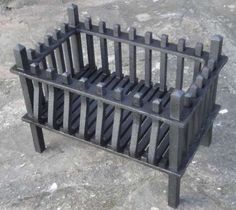 A very good quality blacksmithmade reclaimed fire basket. Fire Pit Grill, Fire Pit Backyard, Fire Pits, Fireplace Grate, Fireplace Tools, Barbecue Design, Fire Basket, Metal Fire Pit, Courtyard House Plans