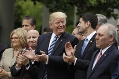 Trump and Ryan celebrate passing of health care bill and more:...  Trump and Ryan celebrate passing of health care bill and more: May 4 in photos  President Trump joined by House Speaker Paul Ryan applauds in the Rose Garden after the House pushed through a health care bill; tourists take photos of Russian jets flying over the Kremlin during a rehearsal for the Victory Day military parade in Moscow; demonstrators protest along the West Side Highway in New York ahead of Trumps arrival in the…