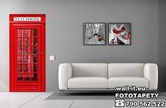 Naklejka na drzwi angielska budka telefoniczna. Dostępna w czerwonym kolorze jak również biała, różowa i zielona. #fototapety #fototapeta #sticker #sticker #doorsticker #wallit #swidnica #producent #naklejka #naklejki #door #drzwi #budka #angiellskabudka #telefon