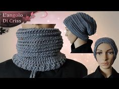 "Cappello&scaldacollo facilissimo all'uncinetto ""Magico""💕tutorial passo a passo💕 - YouTube Crochet Crafts, Easy Crochet, Free Crochet, Knit Crochet, Crochet Mens Scarf, Crochet Scarves, Crochet Designs, Crochet Patterns, Magic Tutorial"