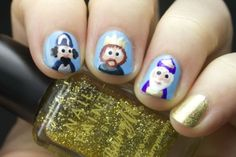 Advent Tutorial: Wise Men Nail Art