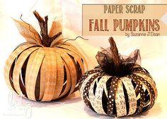 crafts scrap paper pumpkins, crafts, halloween decorations, seasonal holiday decor