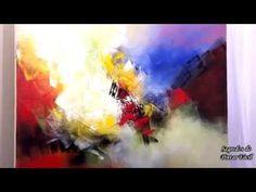 Pintura em Tela - Demonstração 3 - Marinha Tropical - YouTube