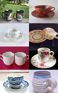 Everyone have coffee with Gail, we all have to share 1 doughnut though  !   by Robin Hawthorne on Etsy--Pinned with TreasuryPin.com