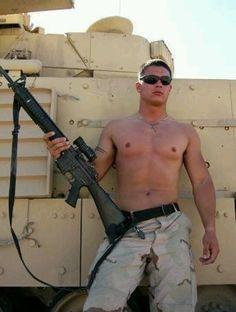 shirtless soldier #hunk