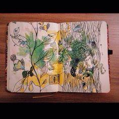 Lonely_tardis #sketchbook #watercolor #doodle #floral