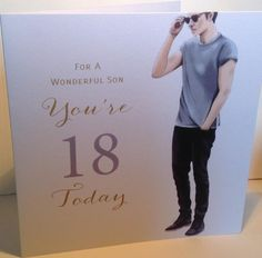 LARGE Happy 18th Birthday Card For Son