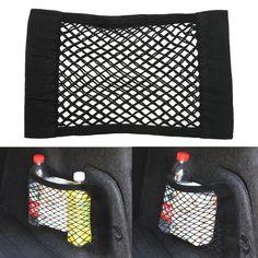 1 Pz Nero Auto Posteriore Tronco Posteriore Sedile Elastico String Maglia Netta Sacchetto di Immagazzinaggio Forte/Durevole Sedile della Macchina stoccaggio Mesh Net