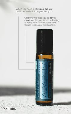 Adaptiv® Touch is your on-the-go solution to life's stressful moments. Feelings of restlessness or being wound up or on edge happen to everyone from time to time. Adapt and center with the help of Adaptiv Touch. Essential Oil Safety, Essential Oils Guide, Essential Oil Uses, Essential Oil Diffuser, Doterra Diffuser, Oils For Life, Copaiba, Pure Oils, Stress