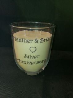 Beautiful Scented Candles can be personalised with your name if required 15cm high x 13cm wide £8 A great little gift only @ Printed Pressies.