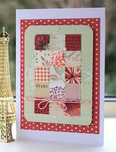 Rustic vintage inchie card by SouvenirdelaFrance on Etsy