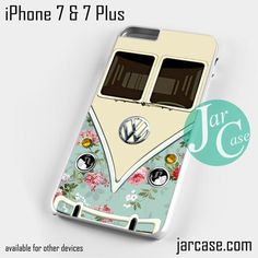modern floral vw retro bus Phone case for iPhone 7 and 7 Plus