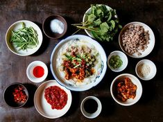 This breakfast dish starts with fresh rice noodles and ground meat in a bare-bones pork broth, then gets customized with as many as a dozen condiments.