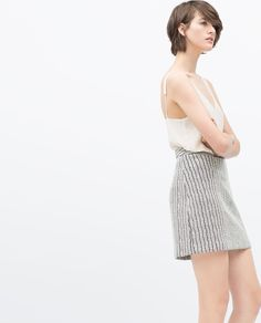 Image 3 of A-LINE JACQUARD MINI SKIRT from Zara