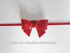 Red Bow Headband: baby headbands, newborn headband, red headbands, infant headband, toddler headband, childrens headband