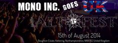 We are very happy to play on this years Alt Fest in England. Come around an see us on the Metal Stage on August 15th.
