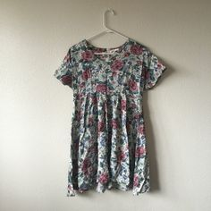 Floral baby doll dress Super cute and comfy just in time for spring think it would fit a small, medium and large perfectly (cuter then AA) Dresses Midi