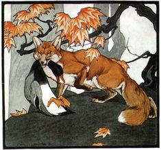 Fox and Goose by  Charles Livingston Bull,  Saturday Evening Post, September 9, 1905