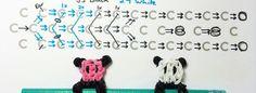 Cute panda pencil charm