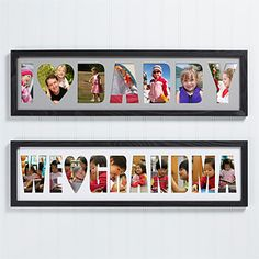 GIFT  -Collage Personalized Frame -visual voice art print (http://voiceartgallery.com/shop_canvas.php)