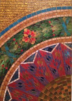wall mosaic #cottontogold Diy And Crafts, Wall, Mosaics, Painting, Food, Painting Art, Meals, Paint, Draw
