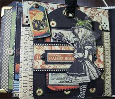 Hallowe'en in Wonderland album by Nancy Wethington #graphic45